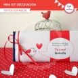 Corazones y pajaritos: kit decoración