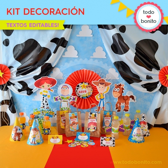 Toy Story: kit imprimible decoración de fiesta