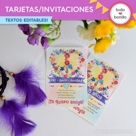 Amor y Paz: invitación imprimible y digital