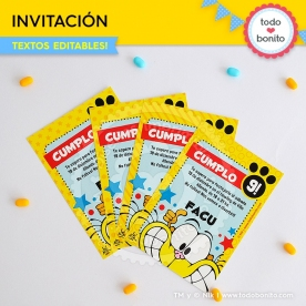 Gaturro: invitación imprimible y digital