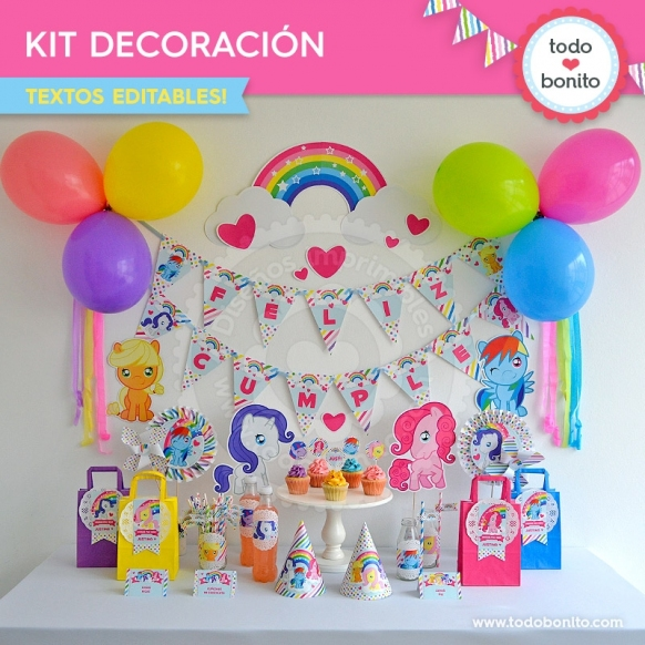Pony: kit imprimible decoración de fiesta