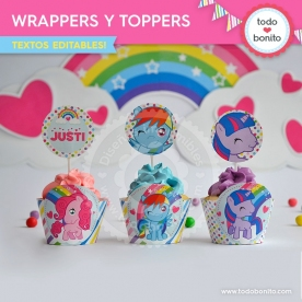 Pony: wrappers y toppers