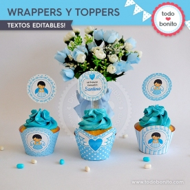 Alitas celeste: wrappers y toppers
