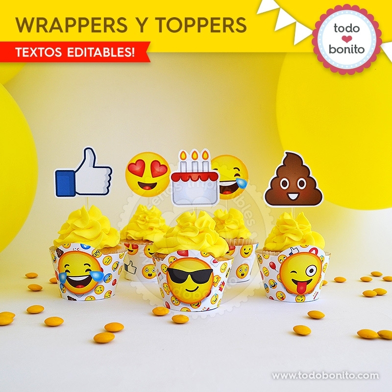 Emojis: wrappers y toppers - Todo Bonito