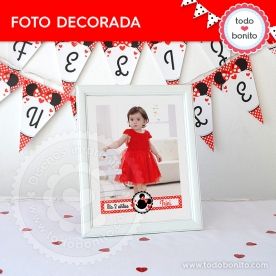 Orejas Minnie Rojo: foto decorada