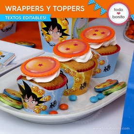Dragon Ball: wrappers y toppers