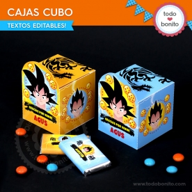 Dragon Ball: cajitas cubo