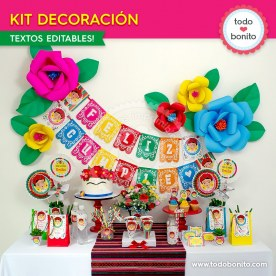 Frida: kit imprimible decoración