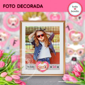 Gatita princesa cool: foto decorada