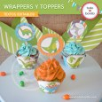 Dinosaurios: wrappers y toppers para cupcakes