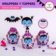 Vampirina: wrappers y toppers