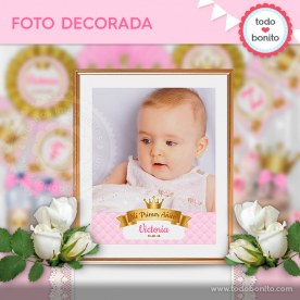 Coronita rosa: foto decorada