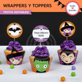 Halloween 01: wrappers y toppers