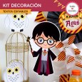 Harry Potter: kit imprimible decoración de fiesta
