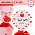 Cerdito: wrappers y toppers