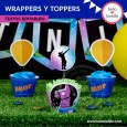 Fortnite: wrappers y toppers cupcakes