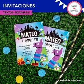Fortnite: invitación imprimible y digital