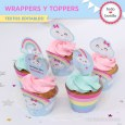Lluvia de amor: wrappers y toppers