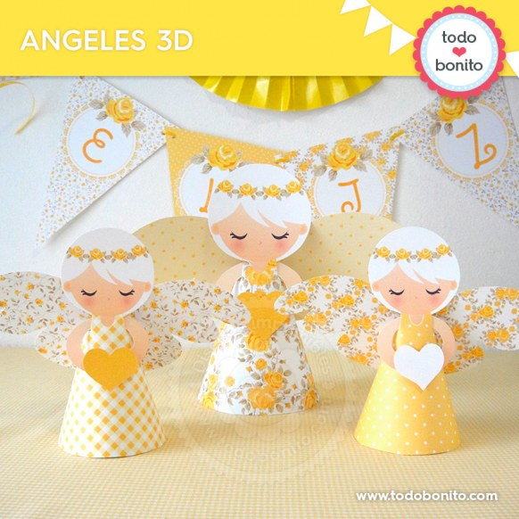 Shabby Chic Amarillo: angelitos 3D