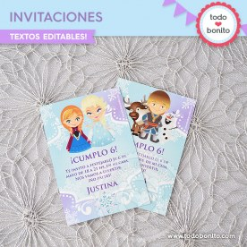 Frozen 1: invitación imprimible y digital
