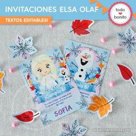 Frozen 2: invitación imprimible y digital MOD Elsa