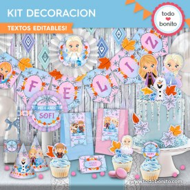 Frozen 2: kit imprimible decoración de fiesta