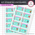 LOL: Kit imprimible etiquetas escolares
