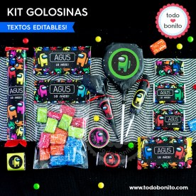 Among Us: kit etiquetas de golosinas