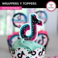 TikTok: wrappers y toppers cupcakes
