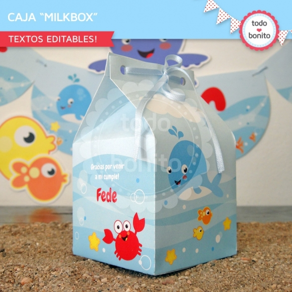 Animalitos de Mar: milkbox